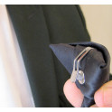 Cravate à clip noire ou gris acier