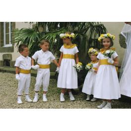 Gants blancs classiques taille enfant