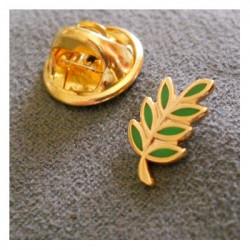 "Pin's maçonnique ""Acacia"" émaillé vert"