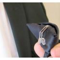 Cravate avec clip noire ou gris acier