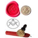 Kit cachet de cire sceau maconnique