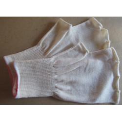 Mitaines coton poignet élastiqué