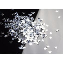 Confettis de table étoiles argentées