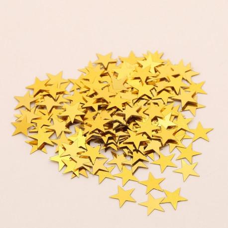 Confettis de table poussière d'étoiles OR