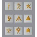 Ensemble des 9 bijoux du collège des Officiers REAA-RF