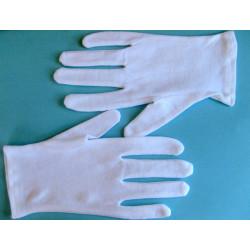 12 paires de gants blancs coton fin
