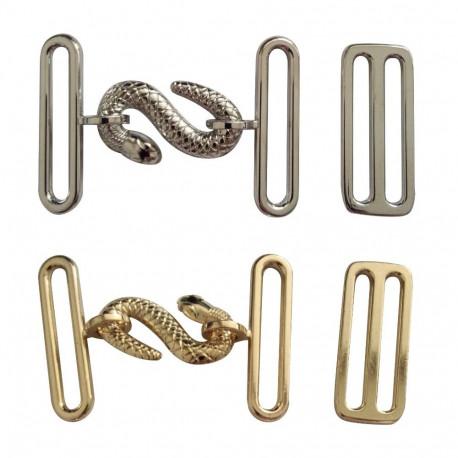 Boucle serpent argent ou or pour tablier