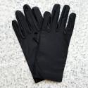 Gants noirs en synthétique de petite taille