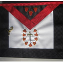 Tablier RF 1er Ordre en agneline brodé main