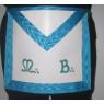 Tablier de maître RF en cuir brodé MB turquoise
