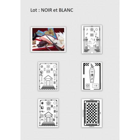 Cartes postales maçonniques (lot de 6)