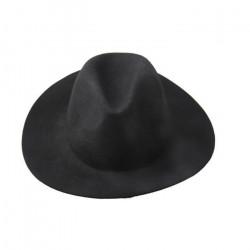 Chapeau noir feutre à bords rabattus