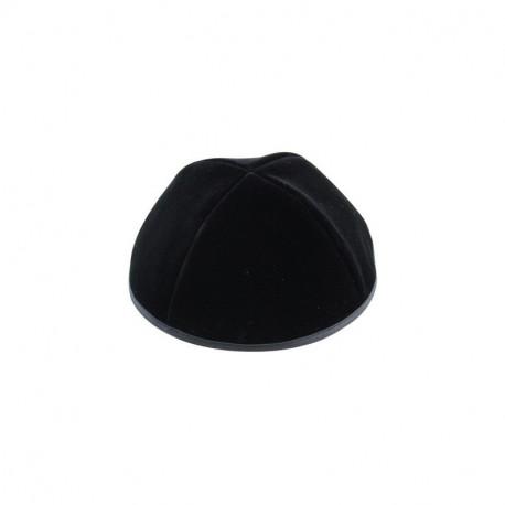 Calotte noire en velours