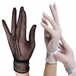 Gants blancs en filet
