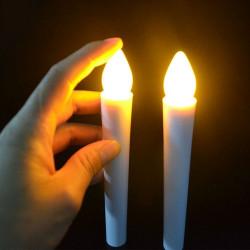 Bougie LED corps blanc