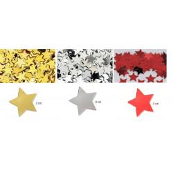 Confettis de table étoiles 2 cm OR, ARGENT ou ROUGE