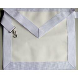 Tablier apprenti agneline ruban moiré blanc