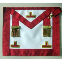 Tablier de Vénérable Maître REAA en cuir 3 Taus et pendeloques