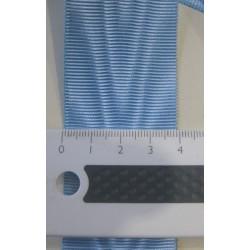 Ruban moiré BLEU CIEL (RER-RFR-RFT) larg. 4 cm vendu au mètre