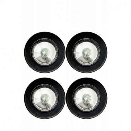 lot de 4 mini lampes LED rondes