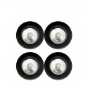 lot de 4 mini lampes LED rondes