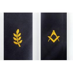 Cravate noire à clip avec motif brodé
