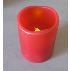 Bougie LED rouge haut. 6,5 cm, diam 5 cm