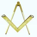 Beaux outils de Loge en métal doré