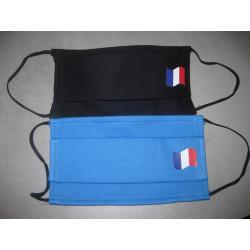 Masque tissu haut de gamme avec drapeau français