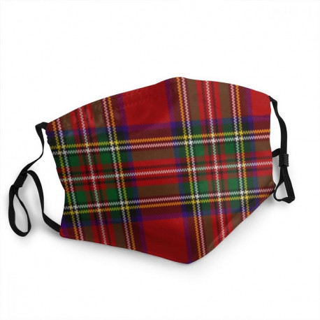 Masque tissu tartan écossais
