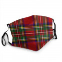 Masque tissu Tartan écossais Royal Steward type 3 plis