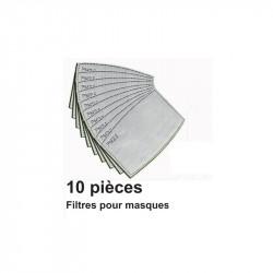 Lot 10 filtres pour masque