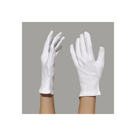 Gants blancs coton moyen 180g