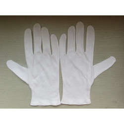 Gants blancs éco par lot de 10 paires