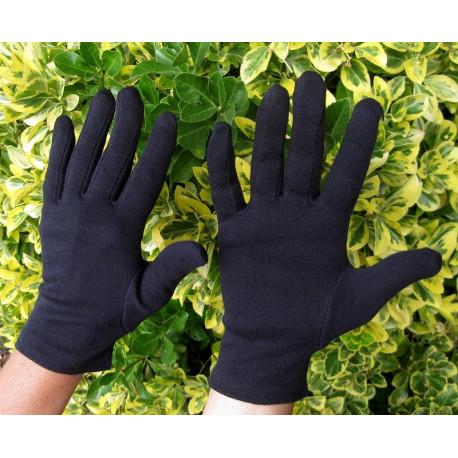 Gants noirs 100 % coton