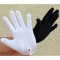 GANTS NOIRS ou BLANCS coton avec antiglisse grip-grip