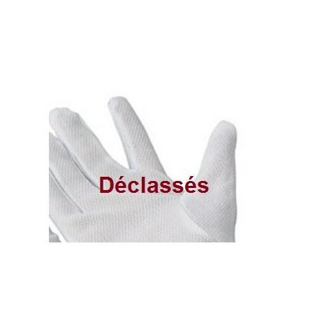 2 paires gants blancs GRIP-GRIP DECLASSES