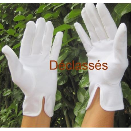 1 paire de gants blancs coton épais DECLASSES