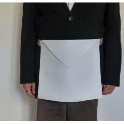 Tablier Apprenti en vrai cuir blanc