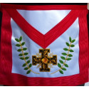 Tablier REAA 18EME DEGRE croix avec acacia